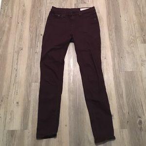 Rag & Bone maroon skinny jeans